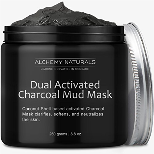 Facial Blood Orange Cleanser (Alchemy 100% Natural Premium Spa Quality Dual Activated Age Defying Charcoal Mud Mask Facial Treatment Cleanser Minimizer for, Acne, Blackheads, Scars, Cellulite – 8.8oz)