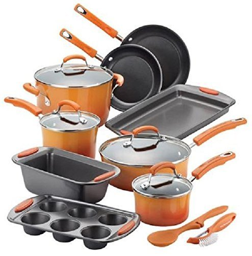 Rachael Ray Hard Enamel Non-Stick 14-Piece Cookware Set