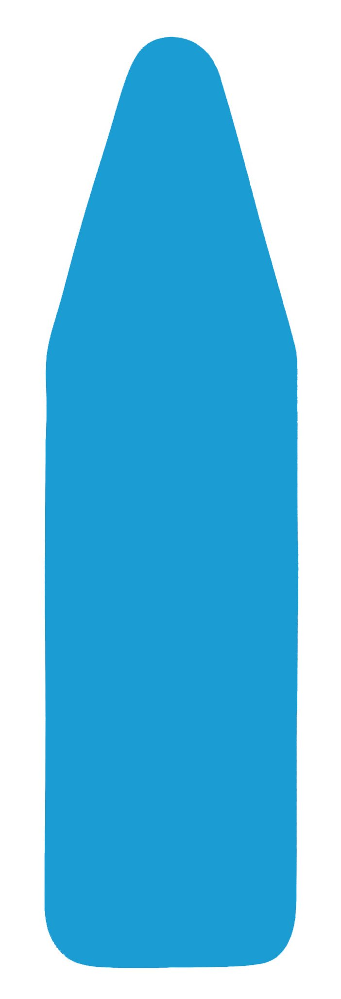 "de Machinor 19"" x 54"" - 3 Layer Padded - Ironing Board Cover - TITANIUM SILICONE Coated Textile - Color Royal Blue"