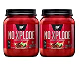 BSN N.O.-XPLODE Pre-Workout Supplement with Creatine, Beta-Alanine, and Energy, Flavor: Cherry Limeade, 60 Servings Tub (2 Pack) Explosive Energy Pre-Workout Igniter | New Formula 20% More - 120 SRV