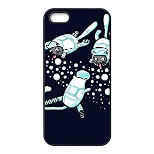 iPhone 4 4s Cell Phone Case Black CATS ASTRONAUTS F7X1RW