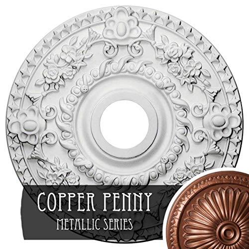Ekena Millwork CM18ROCPS Rose Ceiling Medallion, Copper Penny