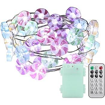 Amazon Com Erchen Candy Shaped Led String Lights