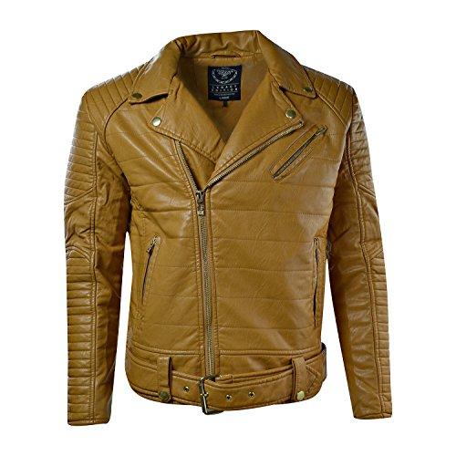 Jordan Craig Men's Moto Jacket Wheat 91243A (XL) by Jordan Craig