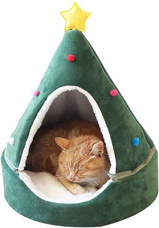 FuYouTa Árbol de Navidad Cat House Cama de Gatos Casa de Gatos ...
