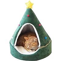 Casas Cueva para Gatos, Cueva para Mascotas de Navidad, Forma de árbol Creativa, casa para Gatos, Nido para Mascotas…
