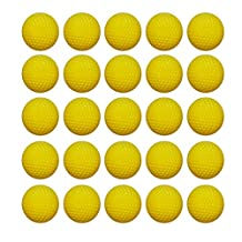 Ennrui 60PCS Yellow Round Ammo - Bulk Foam Bullet Ball Replacement Refill Pack for Nerf Rival Zeus,Apollo, Khaos, Atlas, & Artemis Blasters