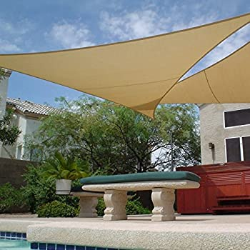 Apontus Sun Shade Sail Canopy Outdoor Patio ... & Amazon.com : Apontus Sun Shade Sail Canopy Outdoor Patio (16u0027X16 ...
