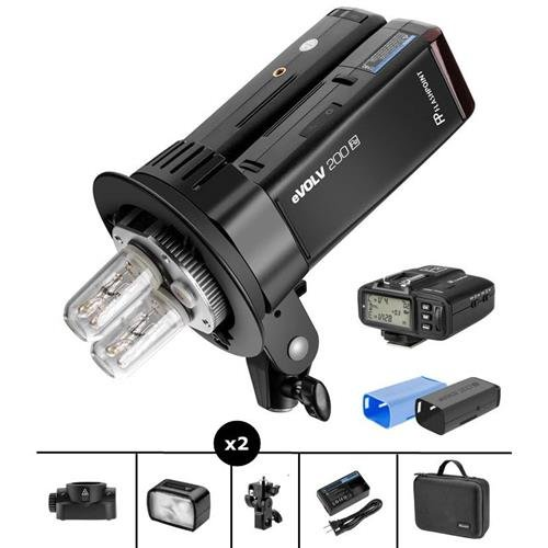 Flashpoint eVOLV 200 TTL Pocket Dual Flash Kit with R2-C Trigger for Canon Cameras by Flashpoint