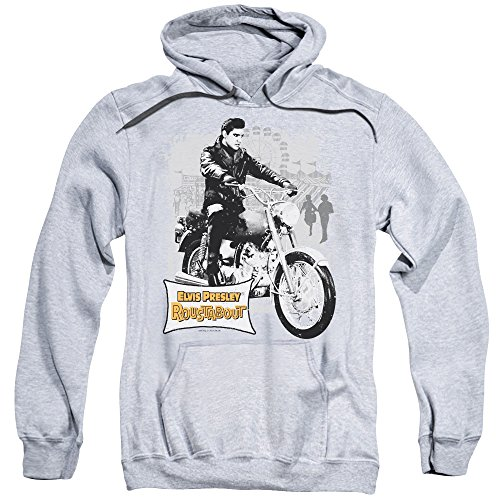 - Elvis Presley The King Rock Roustabout Poster Adult Pull Over Hoodie