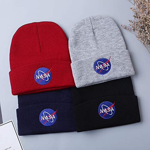BAIMORE NASA Fine Finished Embroidered Hip Hop Knitting Hat