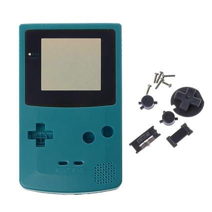 GROOMY Nueva Cubierta de Cubierta de Carcasa Completa para Nintendo Game Boy Color GBC Pieza de reparación Paquete de Cubierta de Carcasa