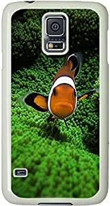 Clown Fish 2 Galaxy S5 Case, Galaxy S5 Cases Compatible With Samsung Galaxy S5 SV i9600 Samsung Galaxy S5 Case Durable Protective Case for White Cover