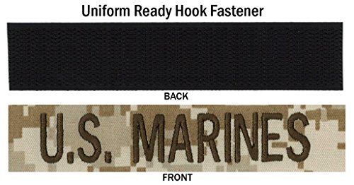Branch Military Name Tapes: USMC Desert Digital Name Tape with U.S. MARINES in Regulation Brown thread, 4