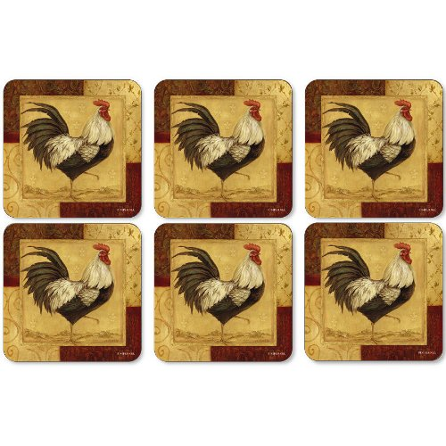 Loire Valley Rooster Coaster Set product image