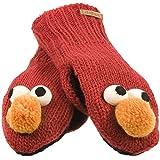 Sesame Street - Unisex-adult Sesame Street - Elmo Head Knit Mittens Red