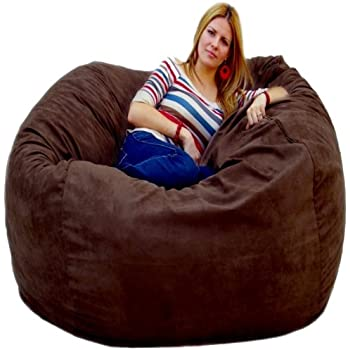 Cozy Sack 5 Feet Bean Bag Chair Large Chocolate