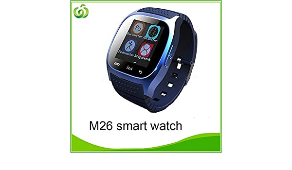 dmyi Smartwatch Bluetooth Smart Watch M26 con pantalla LED ...