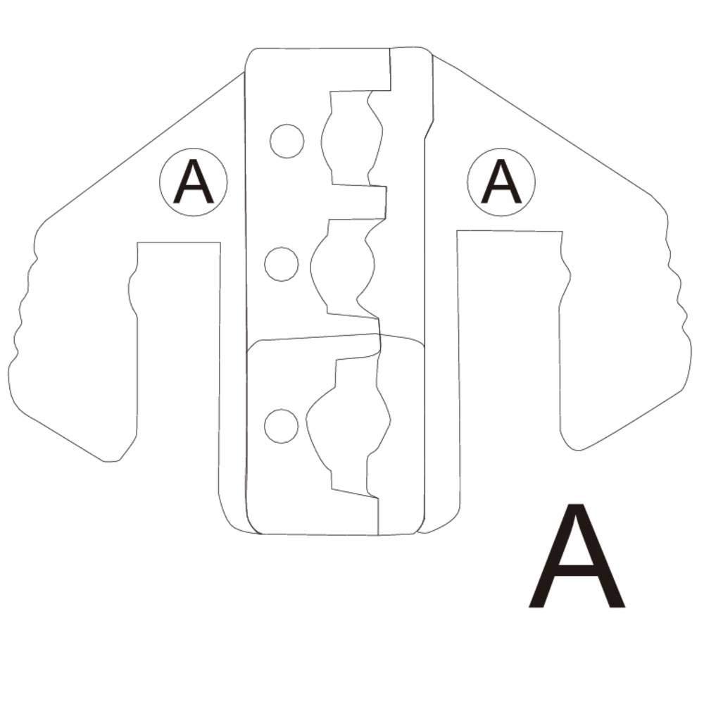 TOOLCRAFT 1423365 Crimpeinsatz Isolierte Kabelschuhe 0.5 bis 6 mm/² Passend f/ür Marke TOOLCRAFT 1423556
