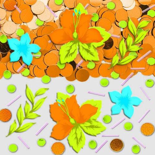 (Tiki Blossoms Confetti)