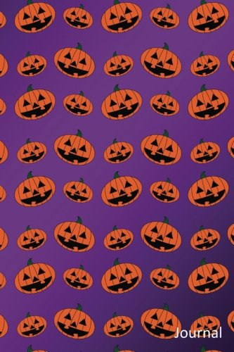 Journal: Purple pumpkin jack o lantern notebook -