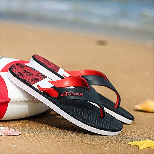 Gran Antideslizantes Verano Zapatillas De Tamaño Chancletas Sandalias De De Blackred Para Plataforma Shoes Hombre GSHE Extragrandes Playa De BFWwzZ0