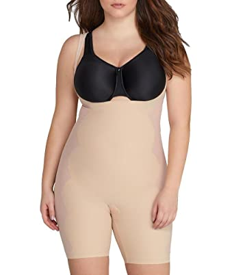 a54e6a96b58 Image Unavailable. Image not available for. Color  SPANX Assets Red Hot  Label Luxe   Lean Firm Control Bodysuit Plus Size