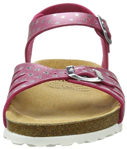 Lico Damen Bioline Sandal Flache Hausschuhe, Rosa (Pink/Silber), 35 EU
