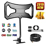 Skytek 150 Miles Outdoor HDTV Antenna - Long Range Digital TV Antenna Omni-Directional Pole Mount 4K FM/VHF/UHF Free Channels Digital Antenna 33ft RG-6 Copper Cable