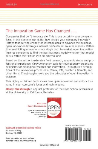 Open Innovation The New Imperative For Creating And Profiting From