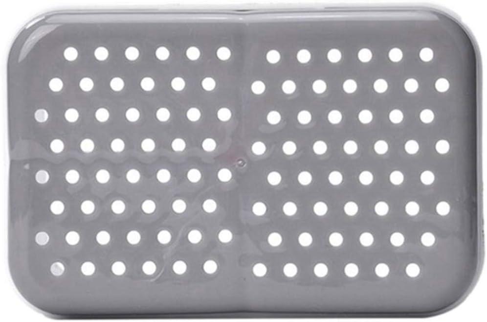 Grey Ramble Inicio Cuchara Tenedor Caja de Almacenamiento de Palillos Cubiertos de Doble Capa Escurridor Organizador Soporte para Cubiertos de Cocina