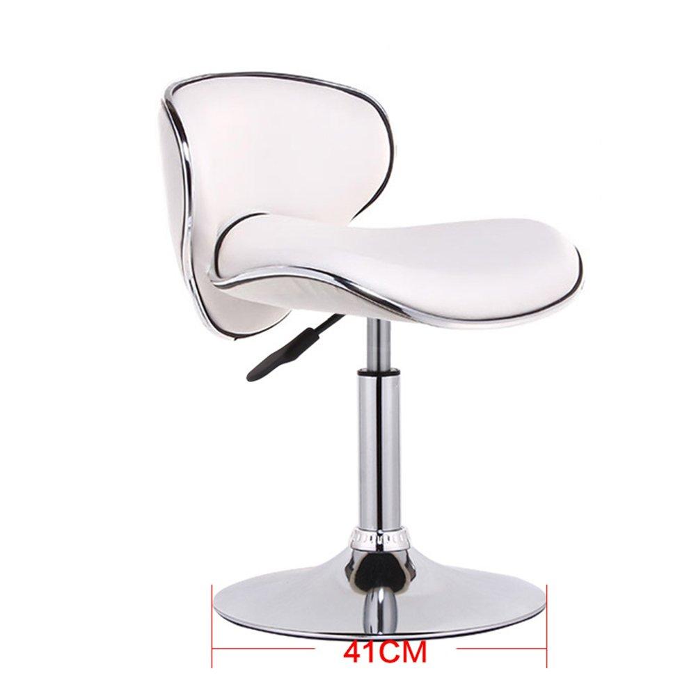 Creative bar chair, European high stool, front desk cashier chair, swivel chair, bar chair, lift chair -by TIANTA (Color : White)