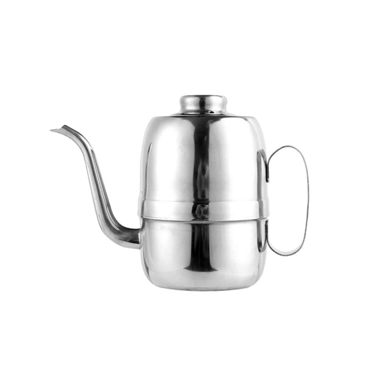 WENPINHUI Stainless steel oil pot Kitchen household 690ml oil pot seasoning bottle leak-proof oil pot Seasoning tank seasoning utensils soy sauce vinegar bottle (Capacity : 690 ml) by WENPINHUI