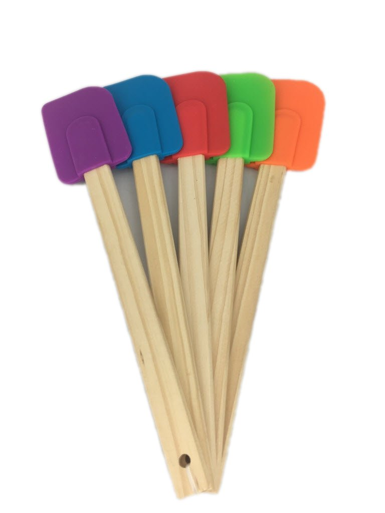 5 Piece Wood Handle Rubber Spatulas from Bamboo Style Concepts by Bamboo (Image #3)