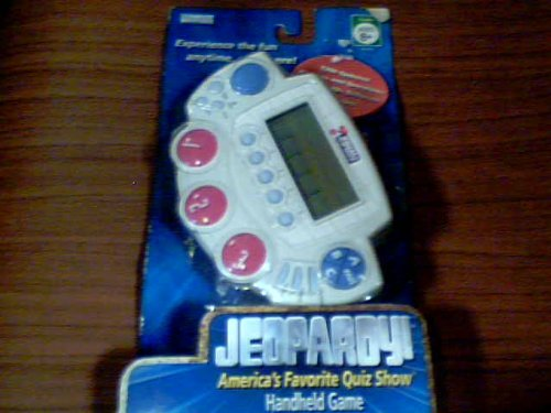 2005 Jeopardy Productions, Inc. Hasbro Parker Brothers Jeopardy Americas Favorite Quiz Show Handheld Game Second Edition Blister Package #55312 with 1200 Updated Answers and Questions! Included 60+ Different Categories (060655312095) (Cherry Rockford)