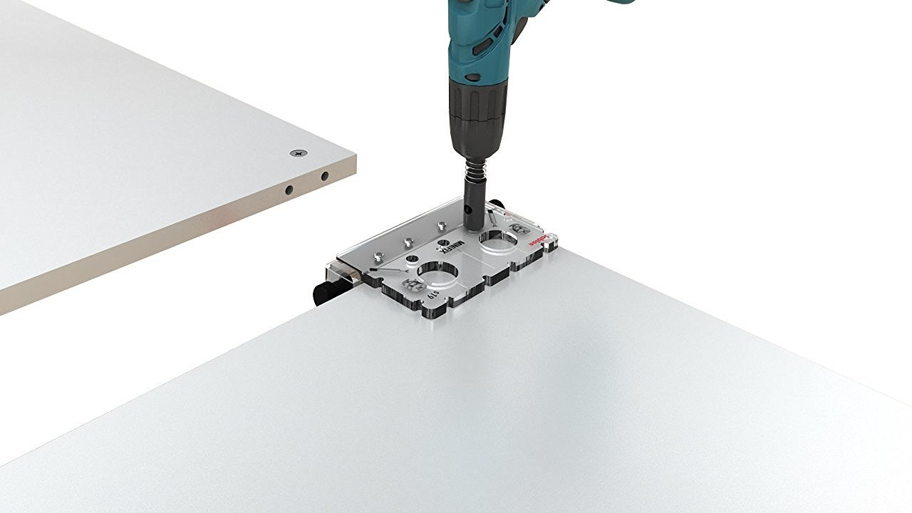 Sablon Minifix /& Estante /& Equipo de plantilla de conexion de Cavela