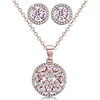 Incaton Womens Jewelry Sets Fashion CZ Stud Earrings Women Necklace Earring Set-Gift for Wife Mom Girls