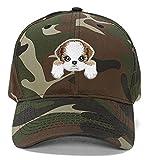 Shih Tzu Dog Hat Cute Puppy Dog Cap (Camo)