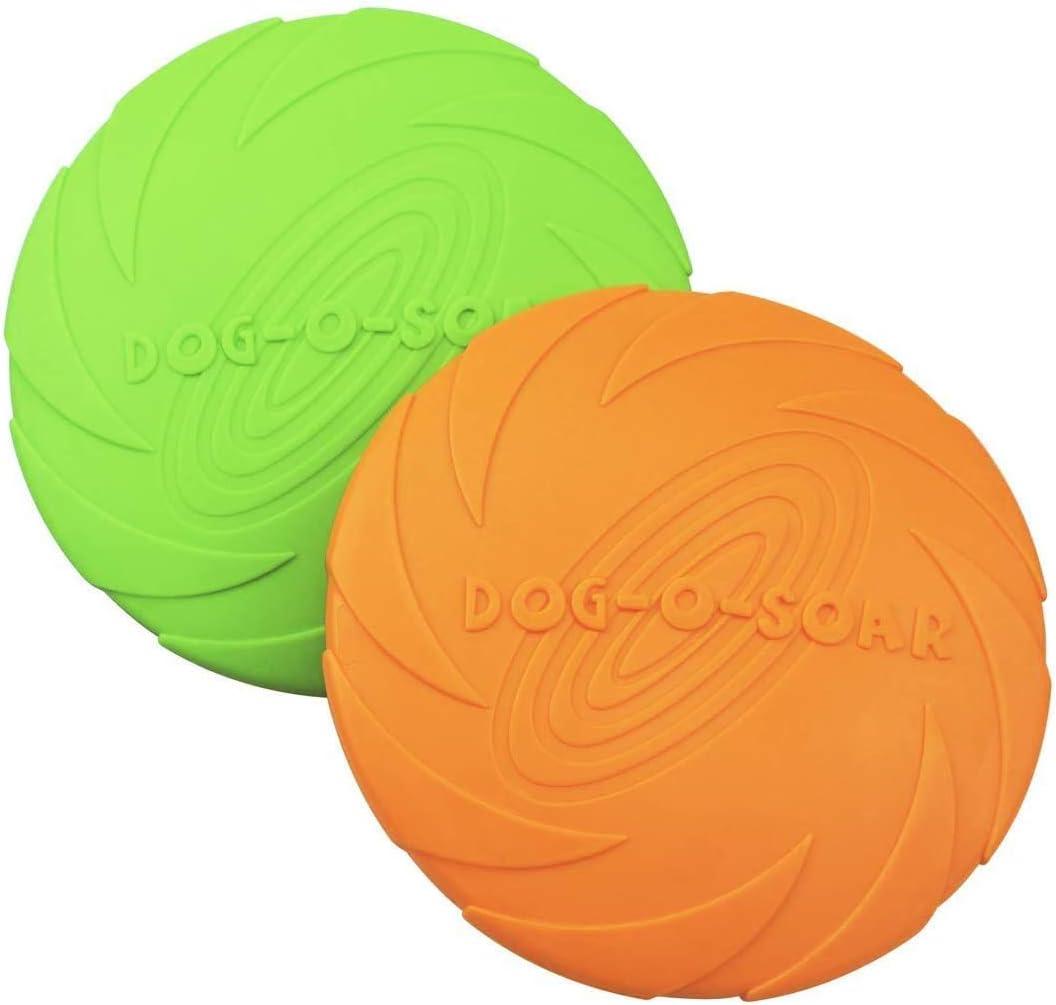 HIQE-FL Disc Dog,Frisbee di Gomma,Disco Volante per Cani,Frisbee per Cani Piccoli,Dog Frisbee,Frisbee per Cani Resistenti,Frisbee Giocattoli