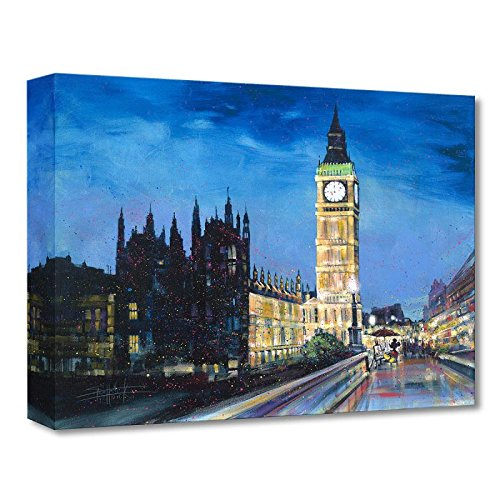 'Painting the Town' Limited edition gallery wrapped canvas by Stephen Fishwick from the Disney Fine Art Treasures collection; with COA.