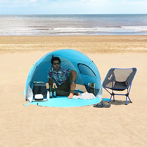 WolfWise Easy Pop Up Beach Tent Instant Sun Shelter Tent Sunshade Baby Canopy