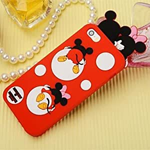 LIMME Lovely Little Animals Pattern Case for iPhone 5/5S (Assorted Color) , Dark Blue
