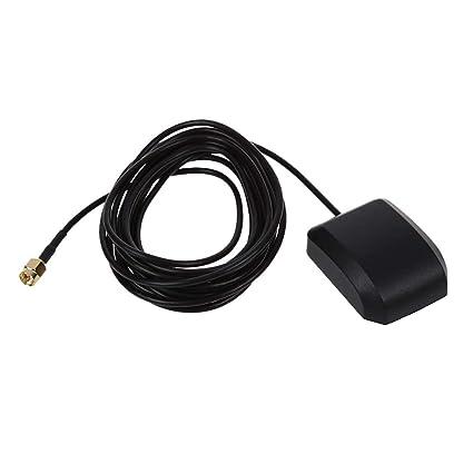 SODIAL(R) Conector Antena GPS 3M RP-SMA Macho para Coche Universal