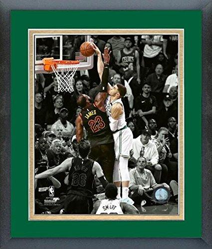 "Jayson Tatum Boston Celtics 2018 NBA Playoff Spotlight Action Photo (Size: 13"" x 16"") Framed"