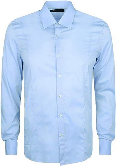 Guess - Camisa casual - Manga larga - para hombre Azul ...