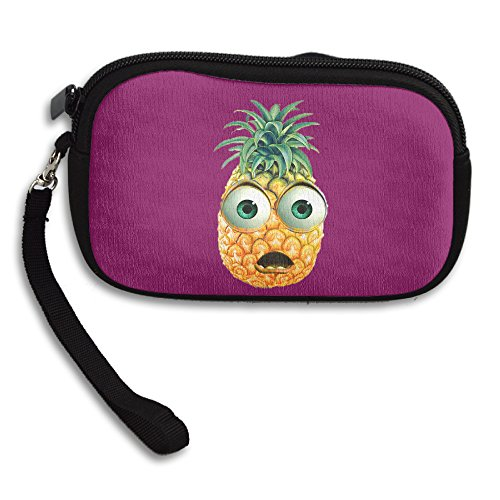 Claudia Fashion Women Girl Zipper Cute Purse Cartoon Pineapple Card Holder Clutch Wallet
