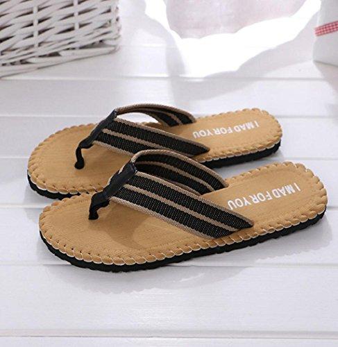 Sandali Antiscivolo Sagton Uomo Indoor Outdoor Peep-toe Flat Infradito Sandali Da Spiaggia Bagno Pantofole Giallo