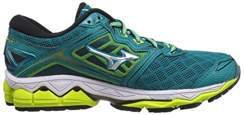 M Tile Mizuno Shoes YLW Running Blue SFT 9 5 Wave US Women's Silver Sky BwqT7X