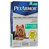 PETARMOR Squeeze on Dog Flea and Tick Repellent, 6 Month Pack for 5 to 22-Pound