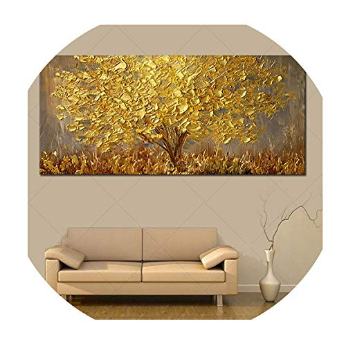 old Tree Oil Painting On Canvas Large Palette 3D Paintings for Living Room Modern Abstract Wall Art Pictures,40x80cm ()